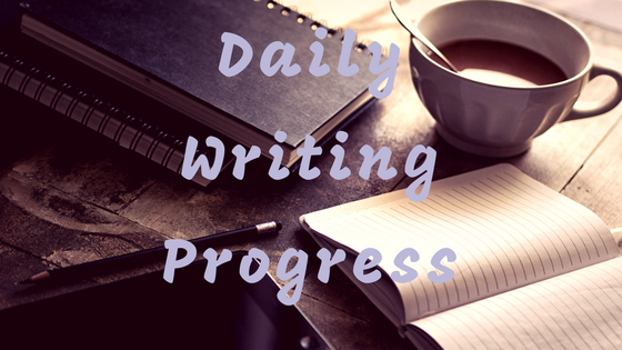 daily writing progress