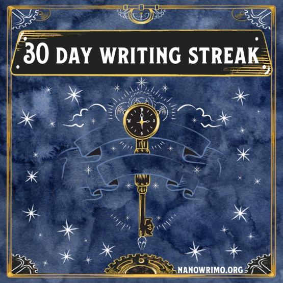 Day 30 writing badge